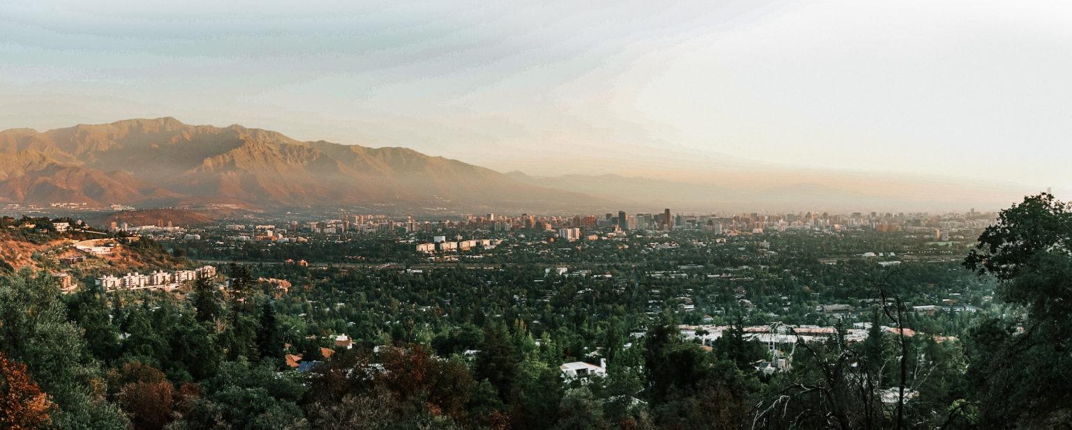 Cumbres de Santa María - Vista diurna hacia Santiago