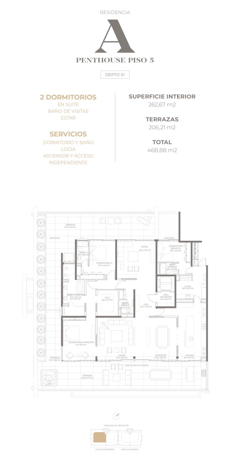 Cumbres de Santa María - Plano Tipo A Penthouse