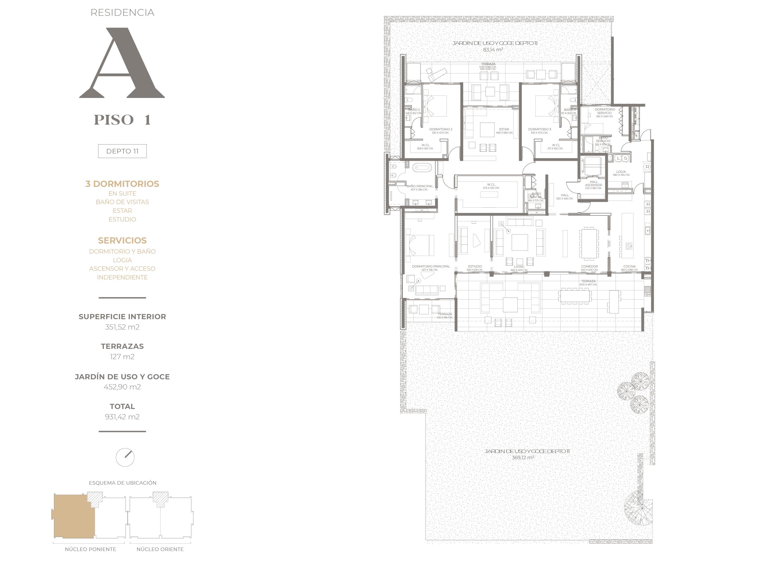 Cumbres de Santa María - Plano Tipo A piso 1