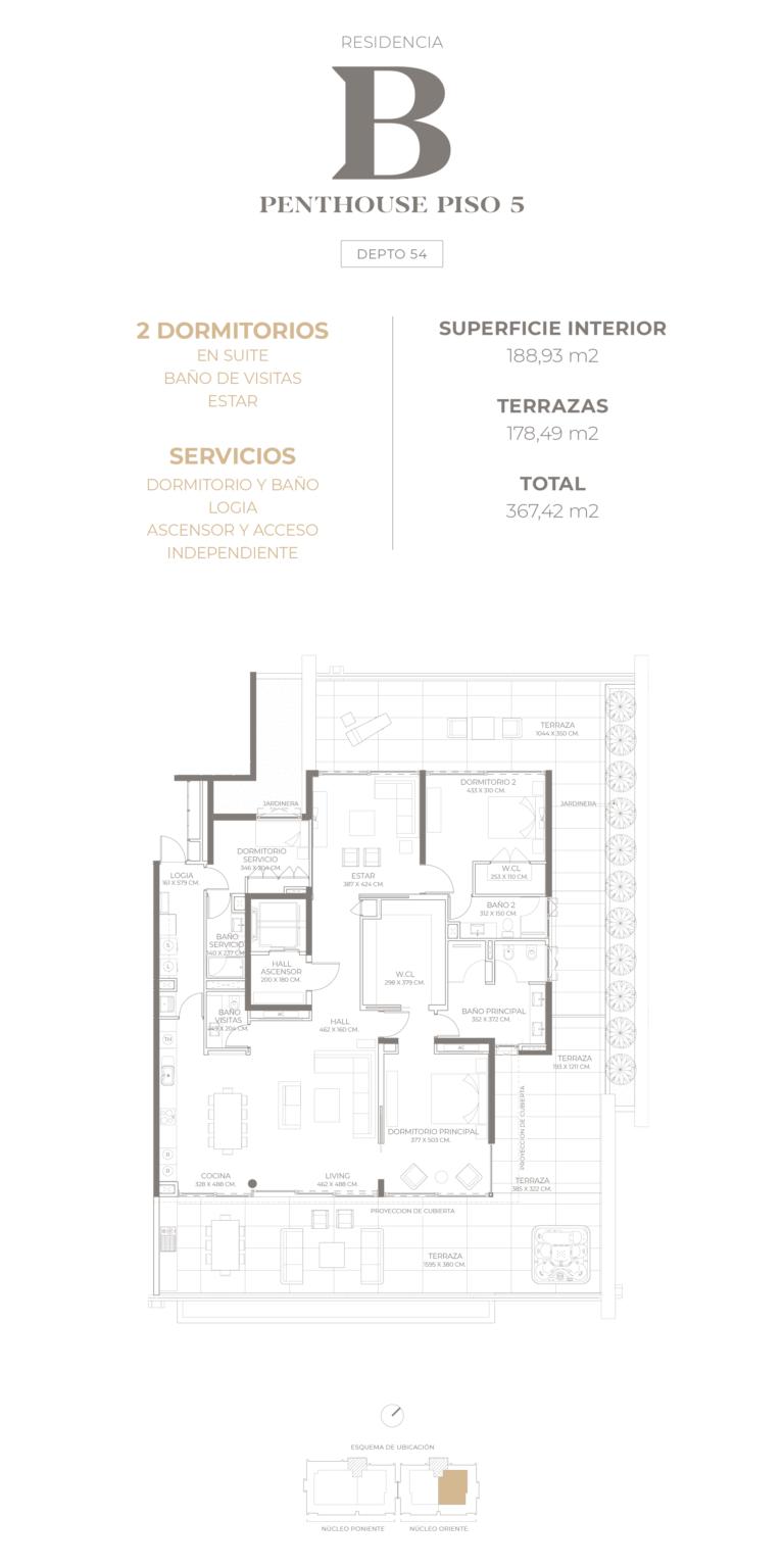 Cumbres de Santa María - Plano Tipo B Penthouse