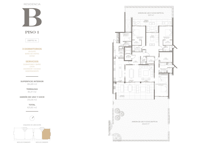 Cumbres de Santa María - Plano Tipo B piso 1