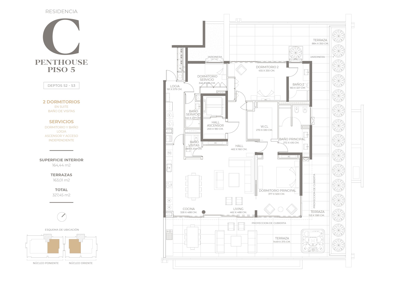 Cumbres de Santa María - Plano Tipo C Penthouse